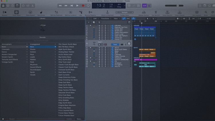 Learn How To Use The Library In Logic Pro X | pureMix net