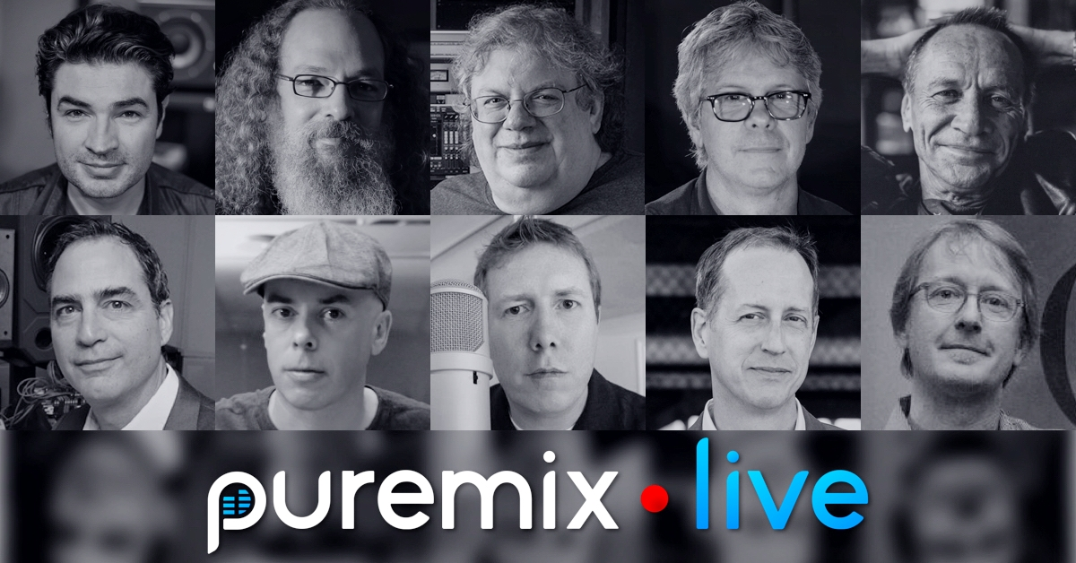 See all of your favorite pureMix Mentors LIVE from the AES 2016 show in Los Angeles and enter for a chance to win $21,000 in gear